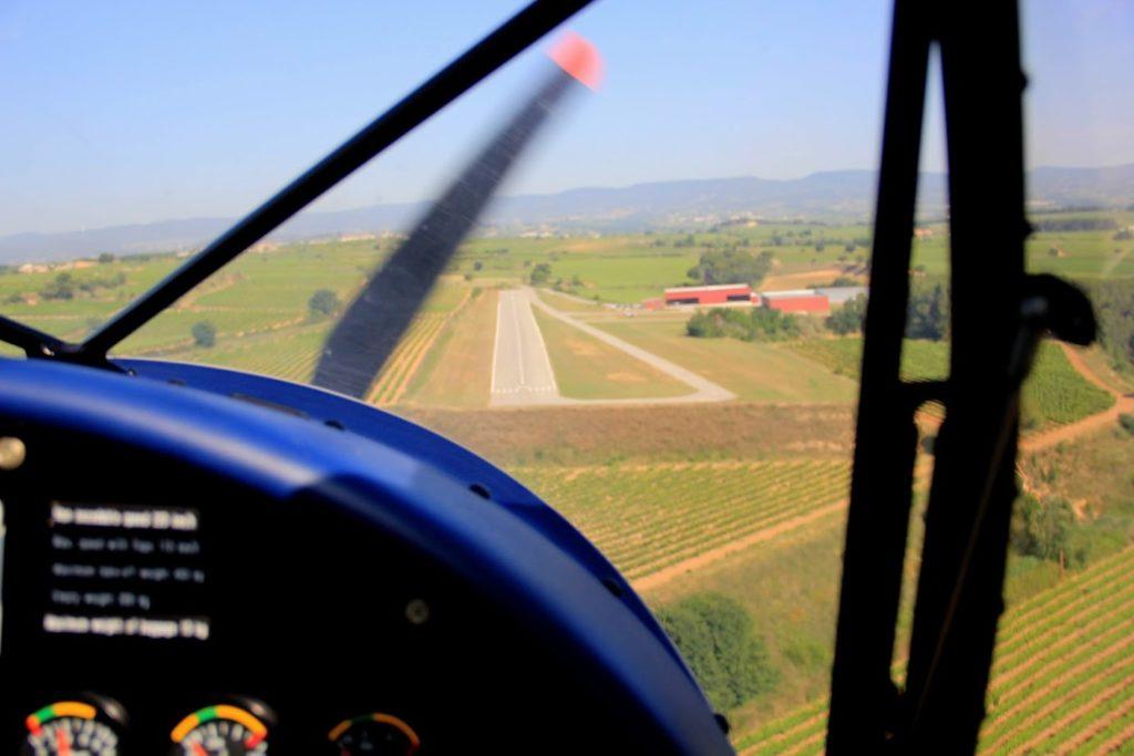 Aterizando 30 Avinyonet con Lluis